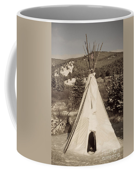 Native Coffee Mug featuring the photograph Teepee In The Snow by James BO Insogna