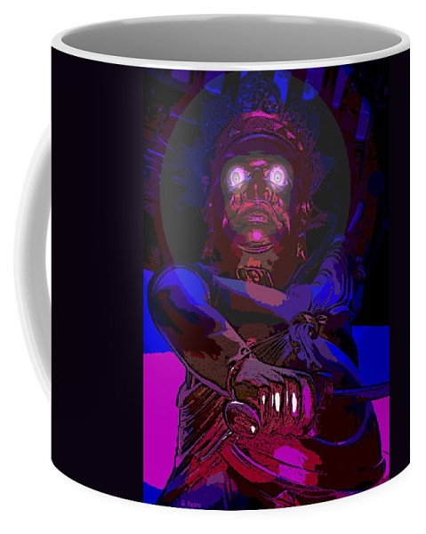 Asian Coffee Mug featuring the photograph Temple Guardian by George Pedro