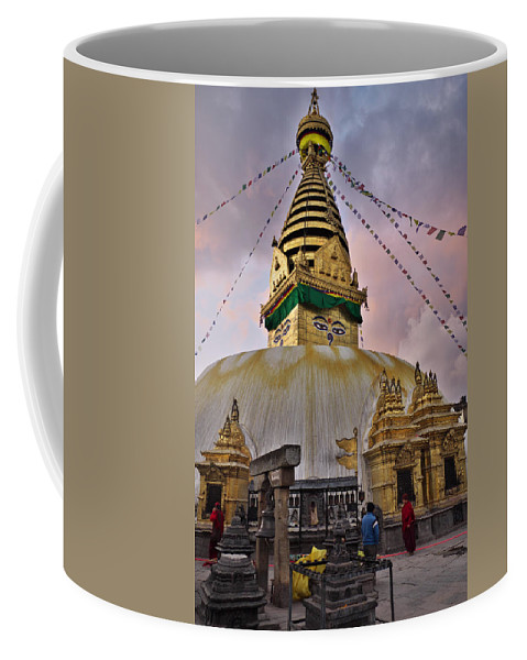 Temple Coffee Mug featuring the photograph Temple by Ivan Slosar