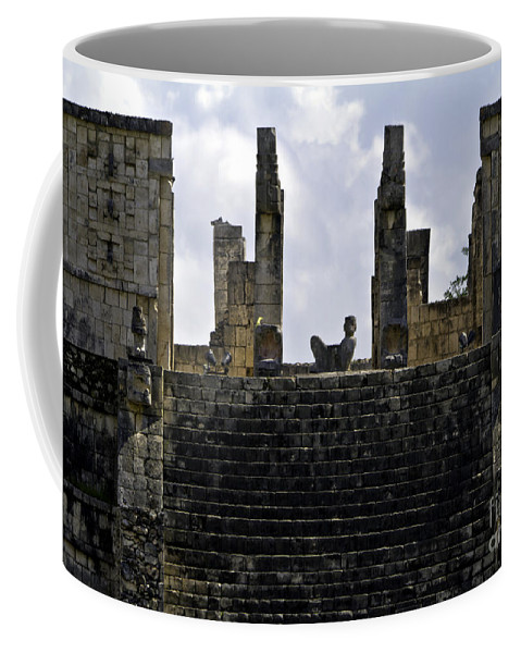 Chichen Itza Coffee Mug featuring the photograph Temple Of The Warriors by Ken Frischkorn