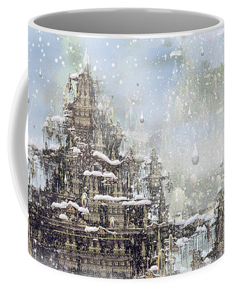 Phil Sadler Coffee Mug featuring the digital art Temples Of The North by Phil Sadler