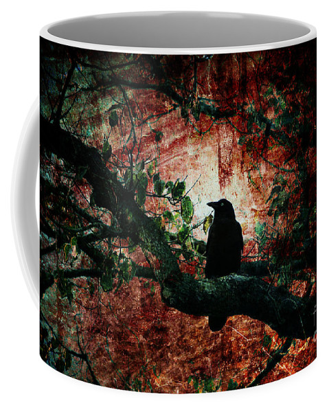Bird Coffee Mug featuring the photograph Tempting Fate by Andrew Paranavitana