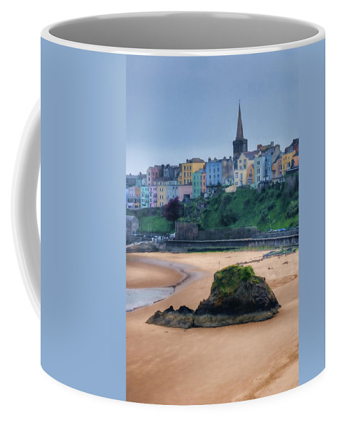 Tenby Coffee Mug featuring the photograph Tenby Over North Beach Painted by Steve Purnell