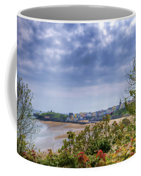 Enby Pembrokeshire Coffee Mug featuring the photograph Tenby Pembrokeshire Painted by Steve Purnell