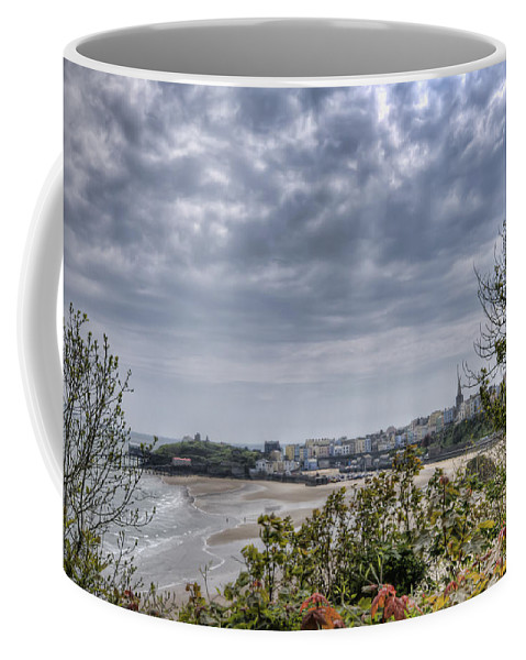 Enby Pembrokeshire Coffee Mug featuring the photograph Tenby Pembrokeshire by Steve Purnell