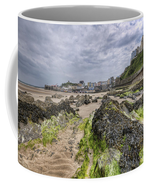 Tenby Pembrokeshire Coffee Mug featuring the photograph Tenby Rocks 2 by Steve Purnell