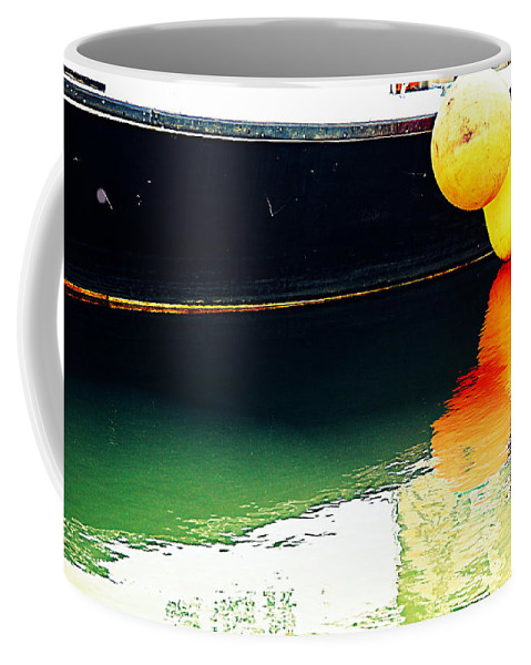 New Bedford Coffee Mug featuring the photograph Tenders by Marysue Ryan