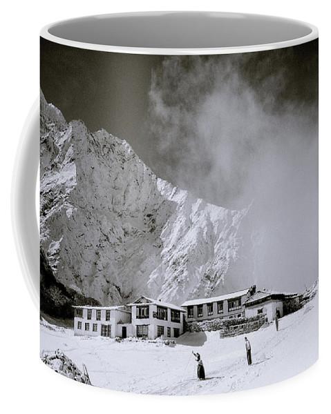 Himalaya Coffee Mug featuring the photograph Tengboche Monastery by Shaun Higson
