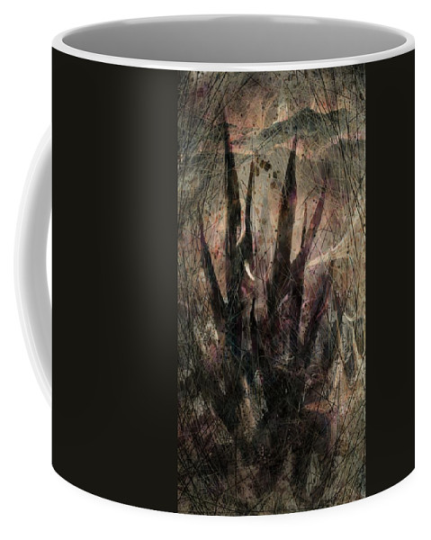 Landscape Coffee Mug featuring the digital art Tequila Sunrise by William Russell Nowicki