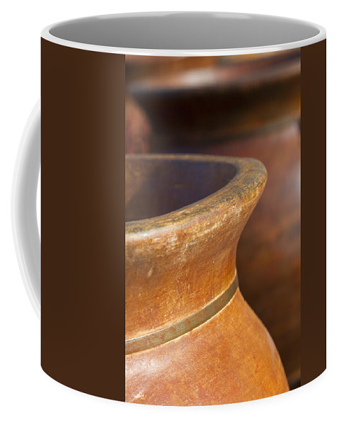 Terracotta Coffee Mug featuring the photograph Terracotta by Kathy Clark