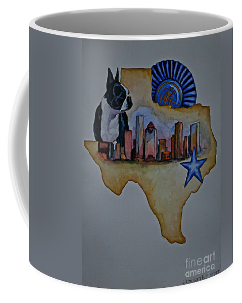 Coffee Mug featuring the painting Texas Bound 3 by Susan Herber