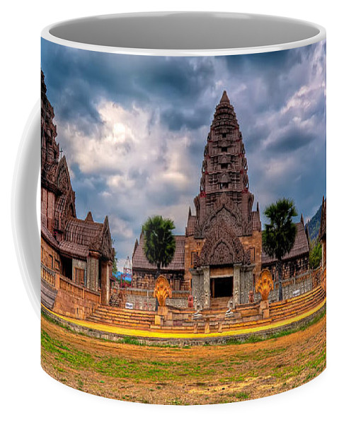 Architecture Coffee Mug featuring the photograph Thai Temple by Adrian Evans