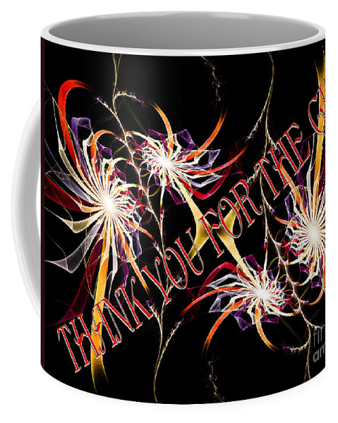 Fine Art Greeting Card Coffee Mug featuring the digital art Thank You For The Gift by Andee Design