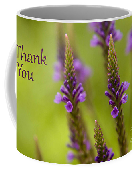 Thank You Coffee Mug featuring the photograph Thank You Wildflowers by Darleen Stry