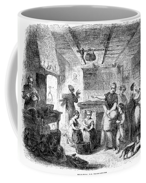 1855 Coffee Mug featuring the photograph Thanksgiving, 1855 by Granger