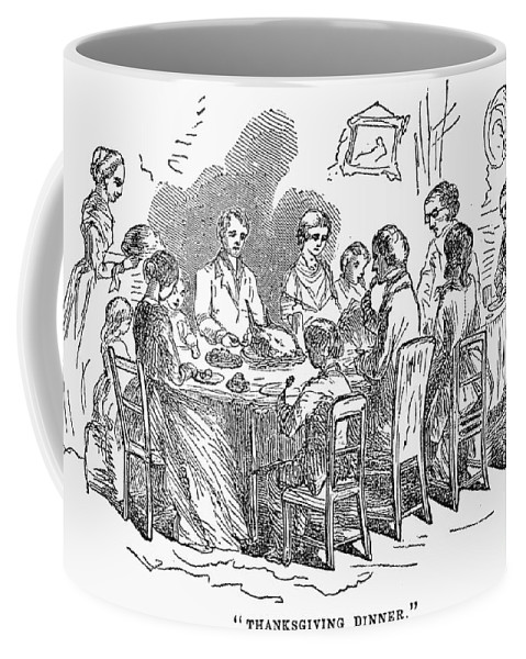 1850 Coffee Mug featuring the photograph Thanksgiving Dinner, 1850 by Granger