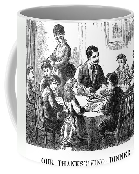 1873 Coffee Mug featuring the photograph Thanksgiving Dinner, 1873 by Granger