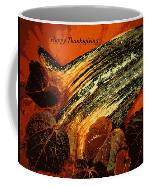 Holiday Coffee Mug featuring the photograph Thanksgiving Greeting Card by Chris Berry