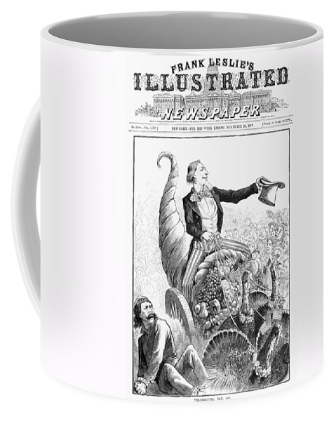 1887 Coffee Mug featuring the photograph Thanksgiving Parade, 1887 by Granger