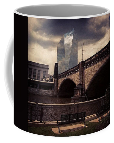 Phillygram Coffee Mug featuring the photograph That Building Looks So Neat Today by Katie Cupcakes