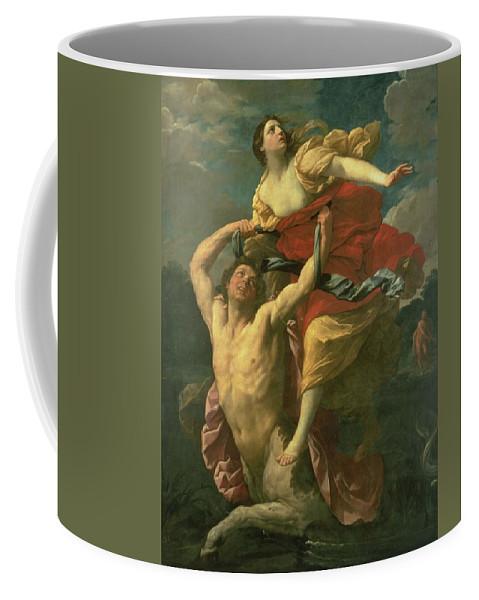 The Abduction Of Deianeira Coffee Mug featuring the painting The Abduction Of Deianeira by Centaur Nessus
