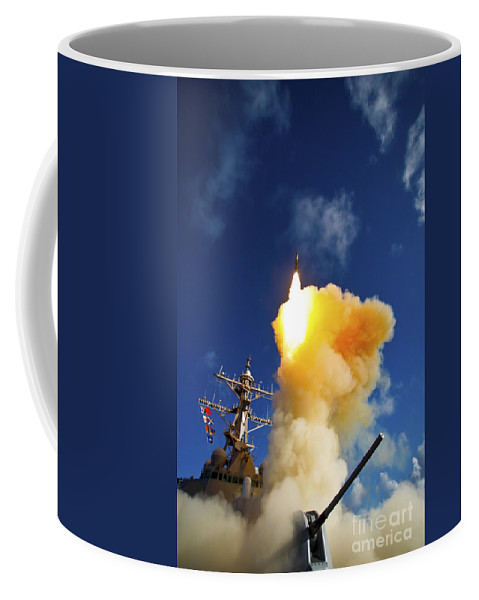 Weapon Coffee Mug featuring the photograph The Aegis-class Destroyer Uss Hopper by Stocktrek Images
