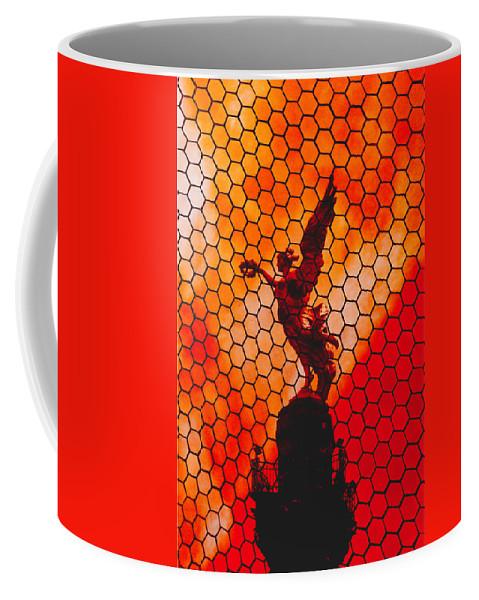 Statue Coffee Mug featuring the photograph The Angel by Jesus Nicolas Castanon