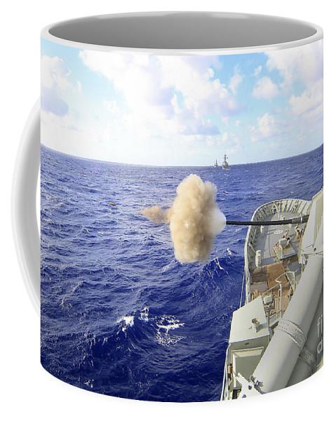Rimpac Coffee Mug featuring the photograph The Australian Navy Frigate Hmas by Stocktrek Images
