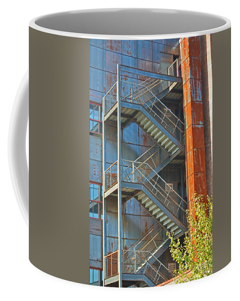 Stairs Coffee Mug featuring the photograph The Back Stairs by Tikvah's Hope