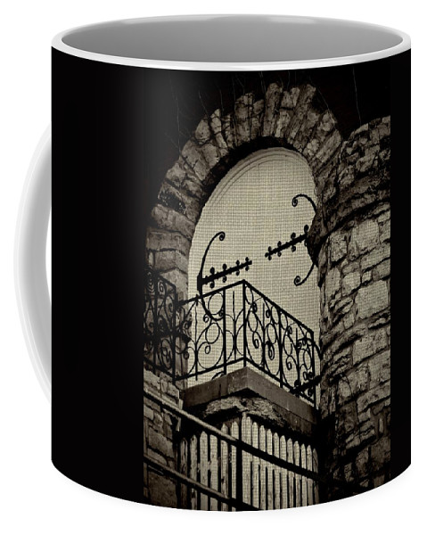 Architecture Coffee Mug featuring the photograph The Balcony by Chris Berry