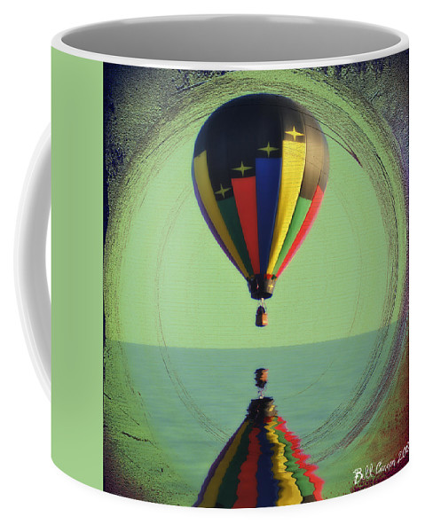 Balloon Coffee Mug featuring the photograph The Balloon And The Sea by Bill Cannon