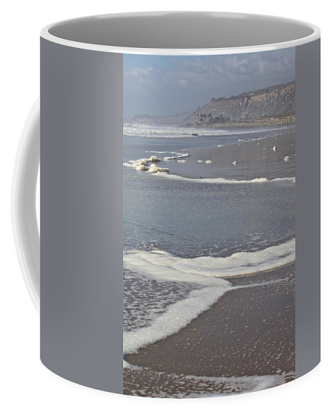 Beach Coffee Mug featuring the photograph The Beach In January by Diana Hatcher