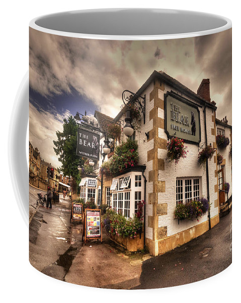 Bear Coffee Mug featuring the photograph The Bear Inn by Rob Hawkins