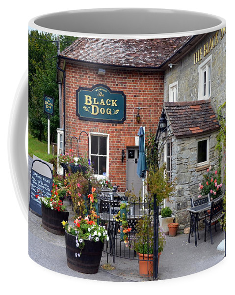 England Coffee Mug featuring the photograph The Black Dog Pub by Carla Parris