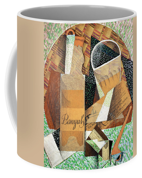 The Bottle Of Banyuls Coffee Mug featuring the painting The Bottle Of Banyuls by Juan Gris
