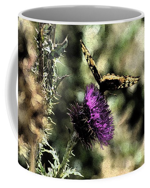 Fine Art Coffee Mug featuring the photograph The Butterfly I by Donna Greene