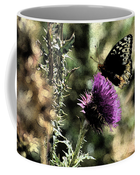Fine Art Coffee Mug featuring the photograph The Butterfly IIi by Donna Greene