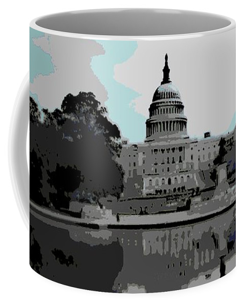 Dc Coffee Mug featuring the photograph the Capitol by George Pedro
