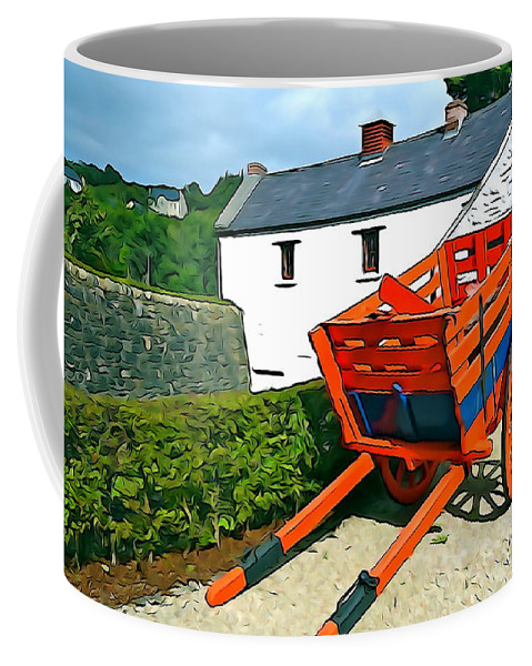 Orange Coffee Mug featuring the photograph The Cart by Charlie and Norma Brock