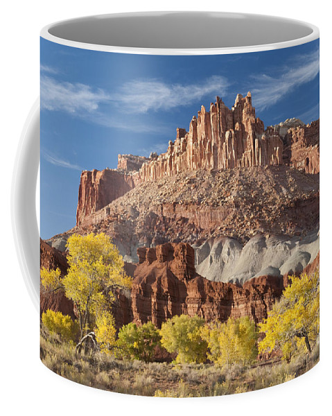 Southwest Coffee Mug featuring the photograph The Castle by Sandra Bronstein