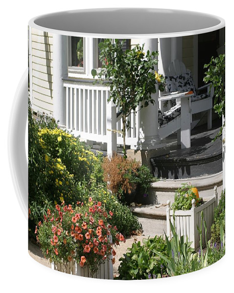 Porch Coffee Mug featuring the photograph The Cheerful Porch by Living Color Photography Lorraine Lynch