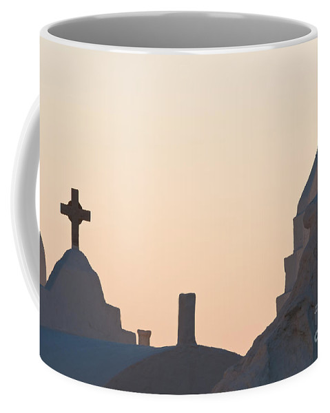 Arches Coffee Mug featuring the photograph The Church Of Panagia Paraportiani by Kim Pin Tan