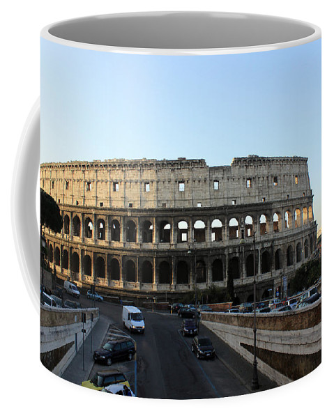 Rome Coffee Mug featuring the photograph The Colosseum in Rome by Munir Alawi