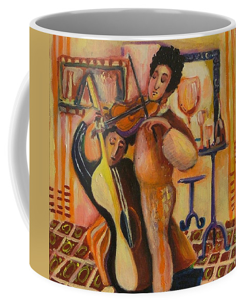 Coffee Mug featuring the painting Concert by Rita Fetisov