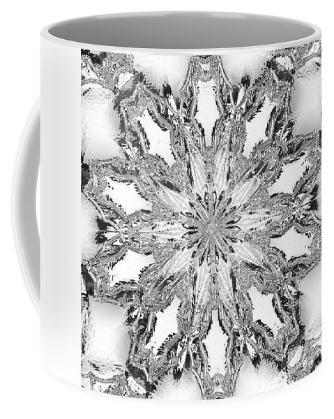 Kaleidoscopic Coffee Mug featuring the photograph The Crystal Snow Flake by Donna Brown