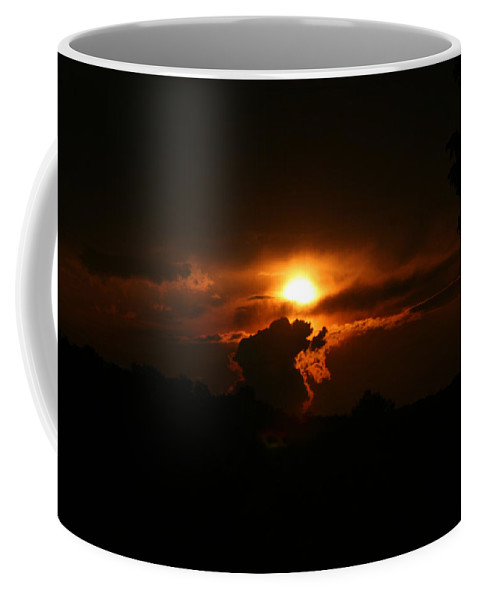Clouds Coffee Mug featuring the photograph The Dance by Jean Macaluso