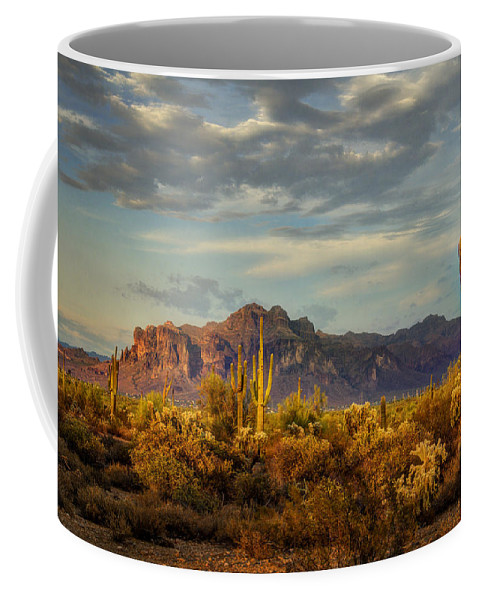 Sunset Coffee Mug featuring the photograph The Desert Golden Hour by Saija Lehtonen