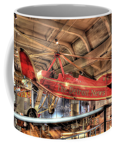 Coffee Mug featuring the photograph The Detroit News Airplane Dearborn Mi by Nicholas Grunas