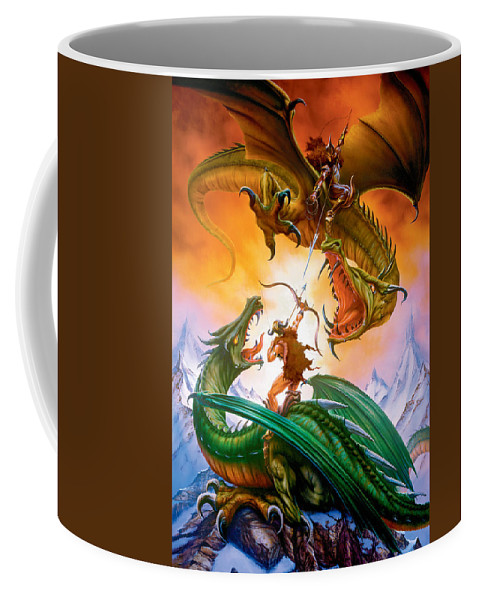 Dragon Coffee Mug featuring the photograph The Duel by The Dragon Chronicles