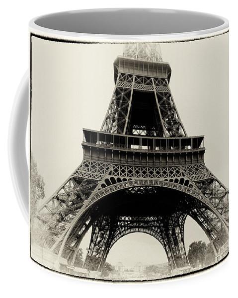 Black Coffee Mug featuring the photograph The Eiffel Tower by Hakon Soreide